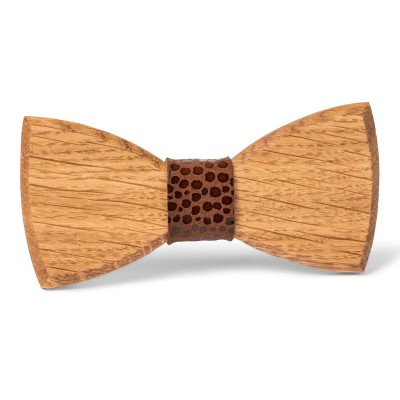 Noeud papillon en bois marron