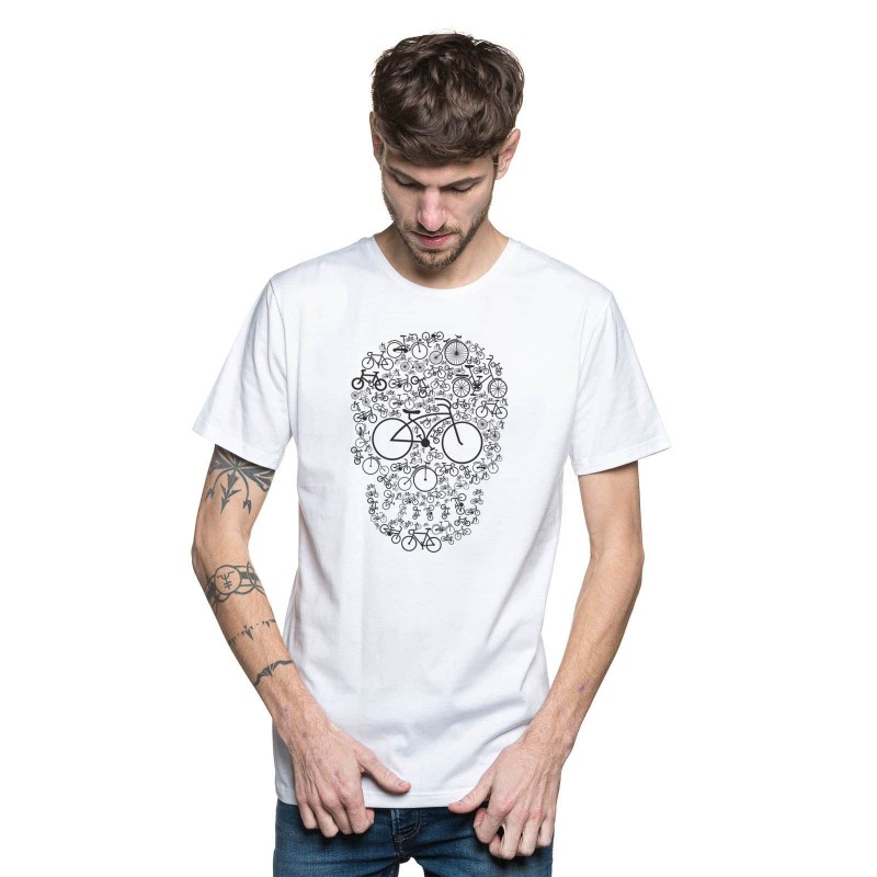 T-shirt squelette made in france