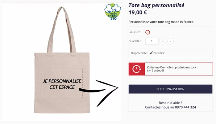 Service Tote Bag De Personnalisation Notre IYWED2eH9b